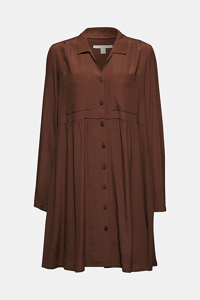 Fully flared smock dress, DARK BROWN, detail image number 8
