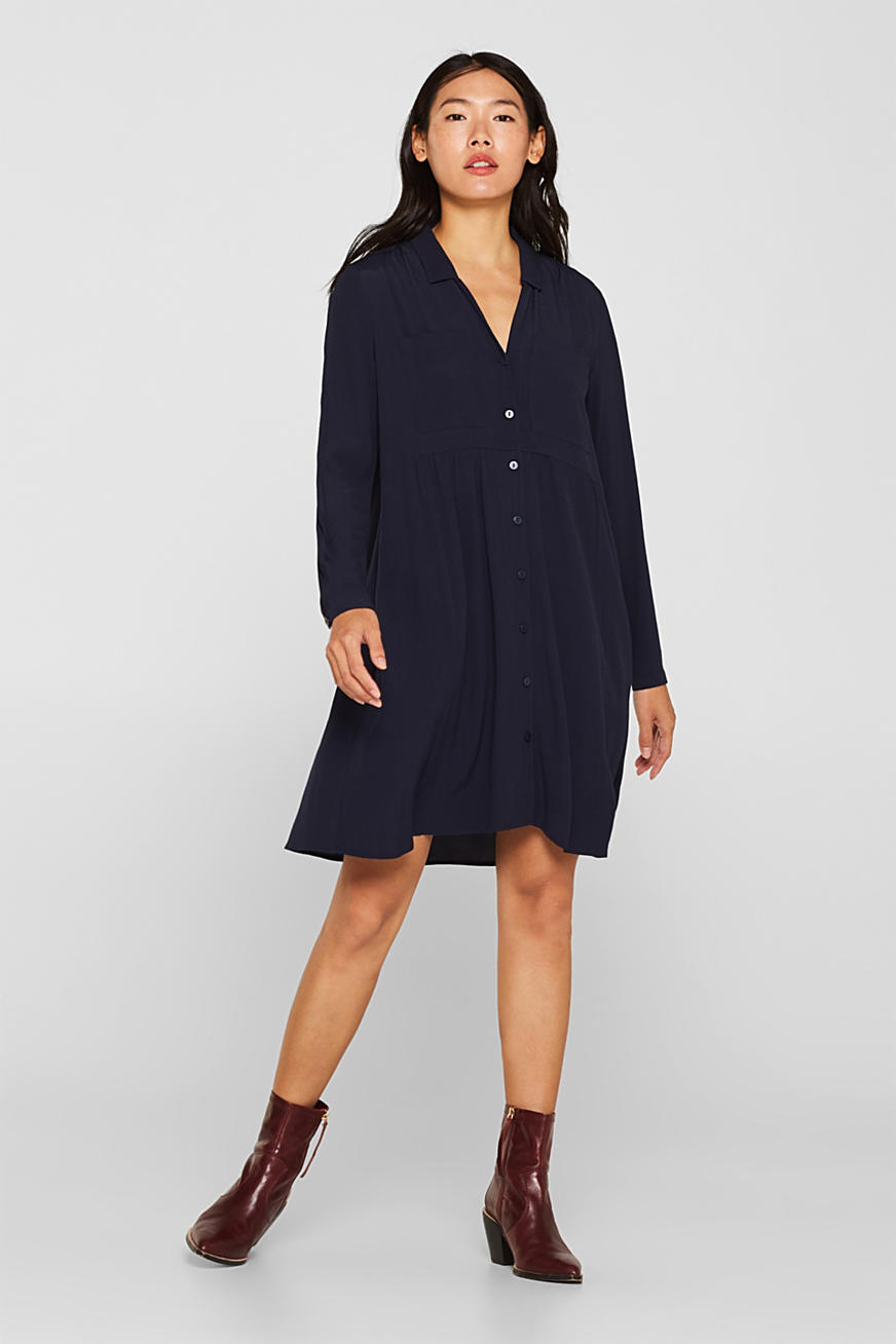 Fully flared smock dress