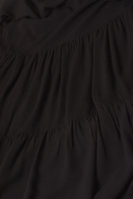 Woven dress with a flounce skirt, BLACK, detail