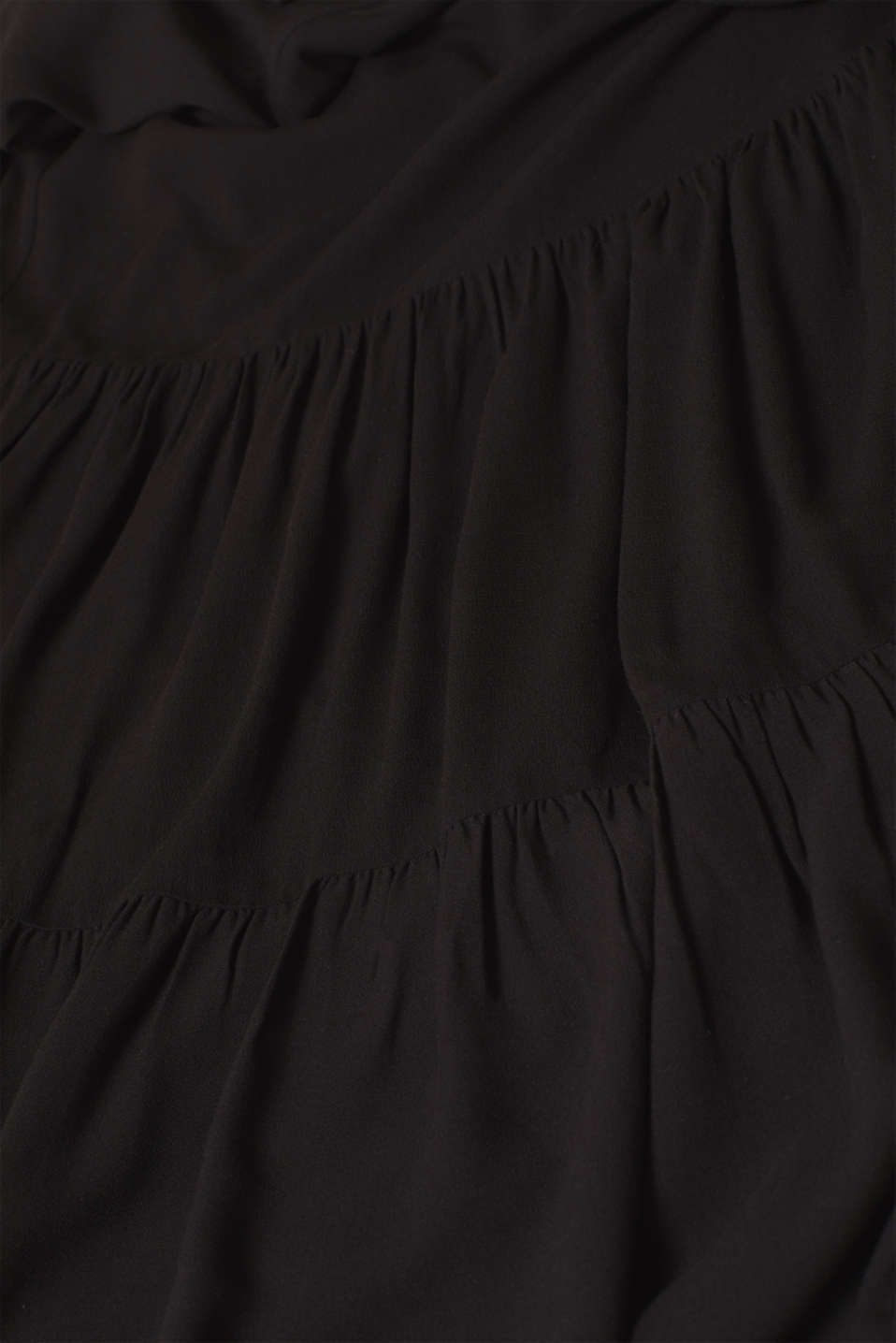 Woven dress with a flounce skirt, BLACK, detail image number 5