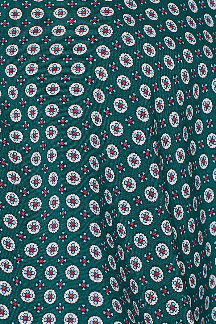 Print blouse with a Henley neckline, BOTTLE GREEN, detail image number 4