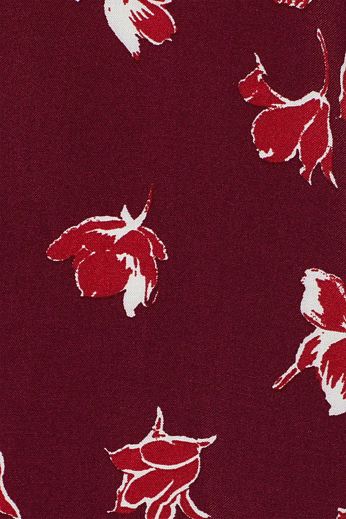 Print blouse with a Henley neckline, NEW GARNET RED, detail image number 4