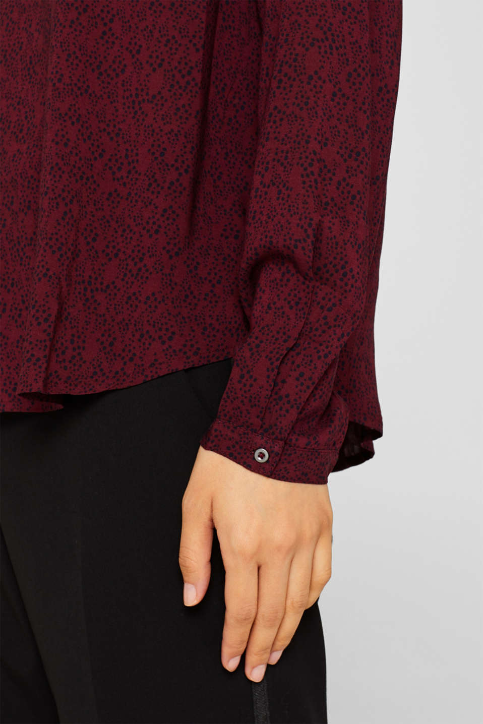 Blouses woven, GARNET RED, detail image number 2