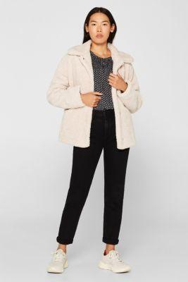 Patterned crinkle blouse, BLACK, detail