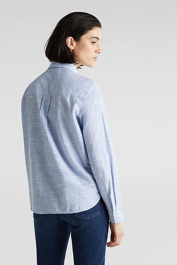 Pussycat bow blouse, 100% cotton, LIGHT BLUE, detail image number 3