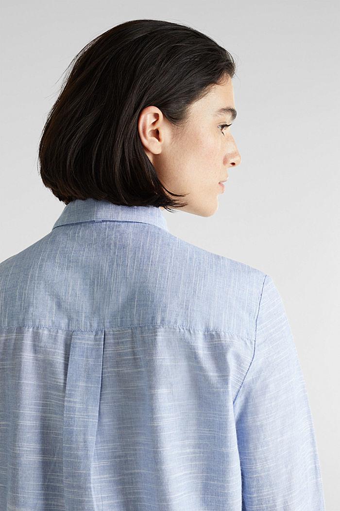 Pussycat bow blouse, 100% cotton, LIGHT BLUE, detail image number 5