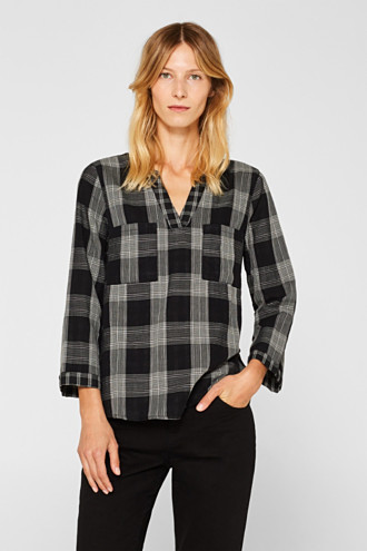 Tunic blouse with organic cotton
