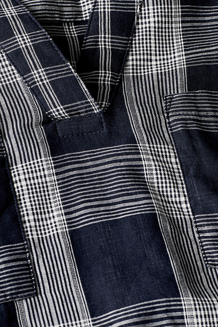 Tunic blouse with organic cotton, NAVY, detail image number 4