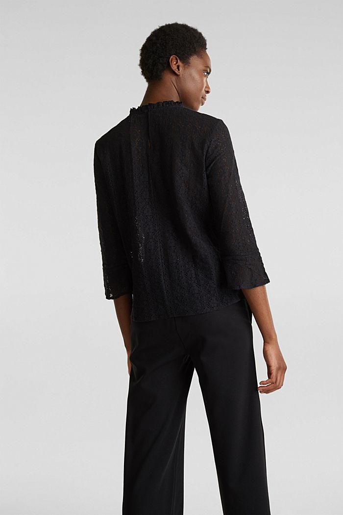 Delicate lace blouse, BLACK, detail image number 2