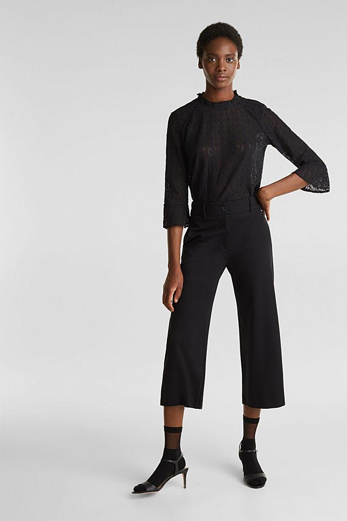 Delicate lace blouse, BLACK, detail image number 1
