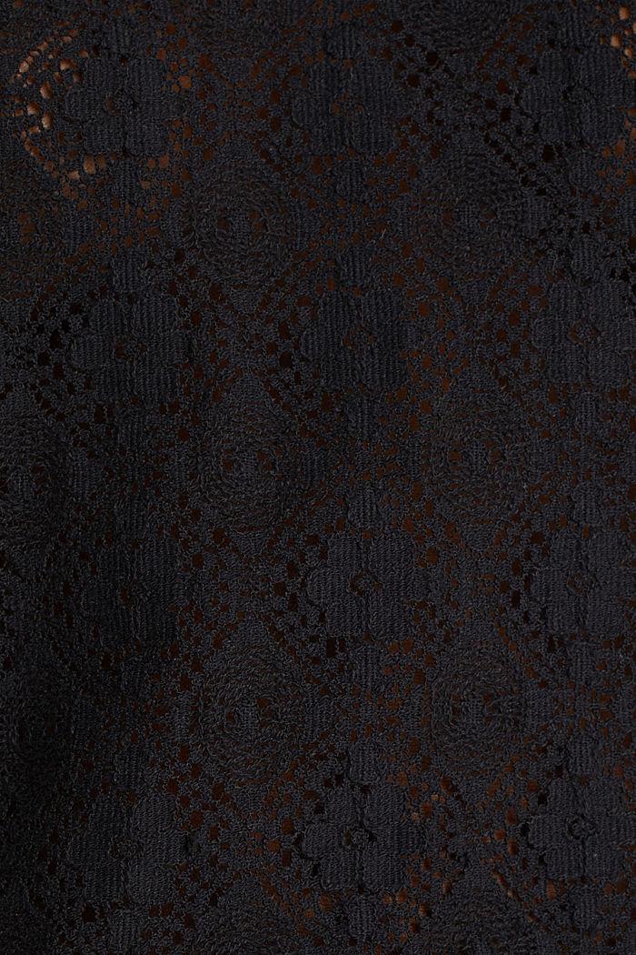 Delicate lace blouse, BLACK, detail image number 3