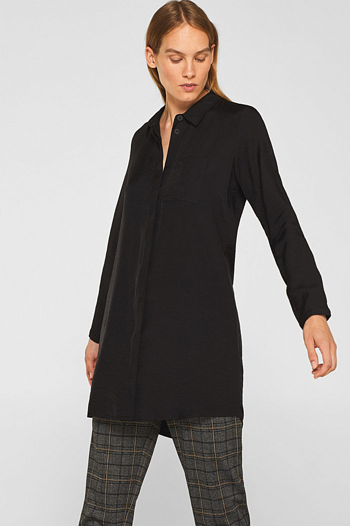 Long sleeve blouse with print, BLACK, detail image number 0