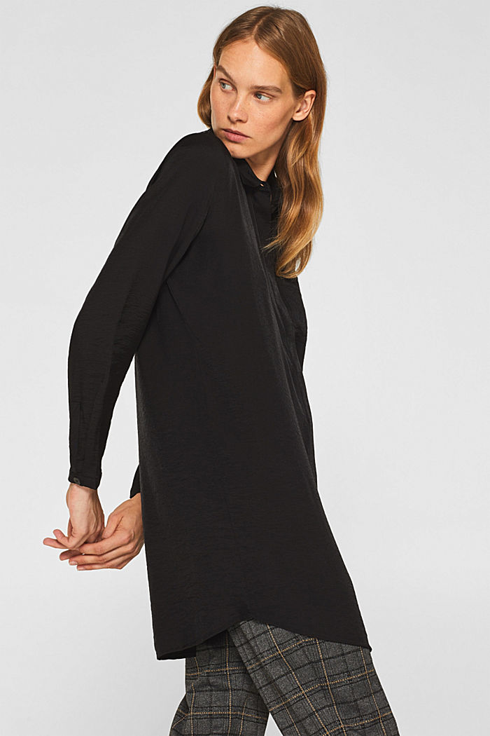 Long sleeve blouse with print, BLACK, detail image number 5