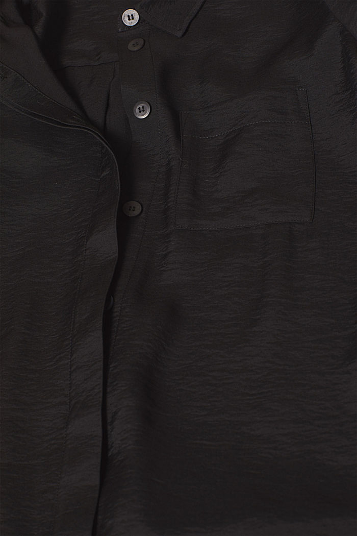 Long sleeve blouse with print, BLACK, detail image number 4