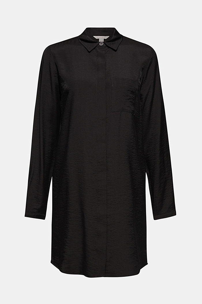 Long sleeve blouse with print, BLACK, detail image number 6