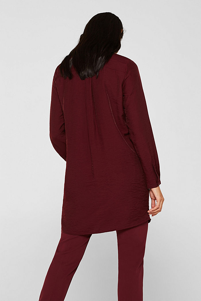 Long sleeve blouse with print, GARNET RED, detail image number 3