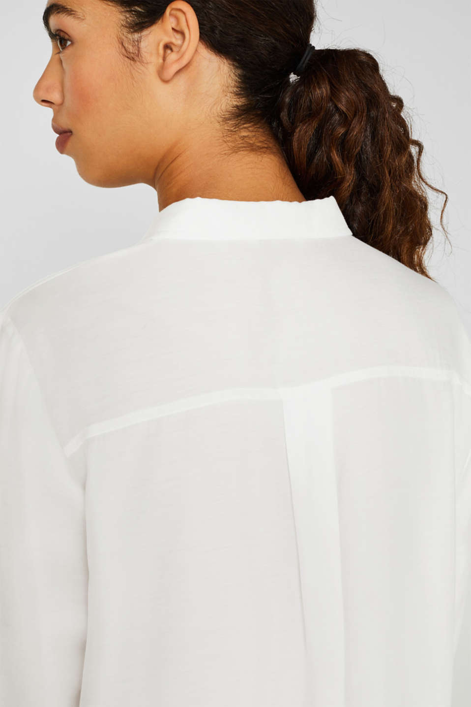Blouse with a concealed button placket, OFF WHITE, detail image number 2