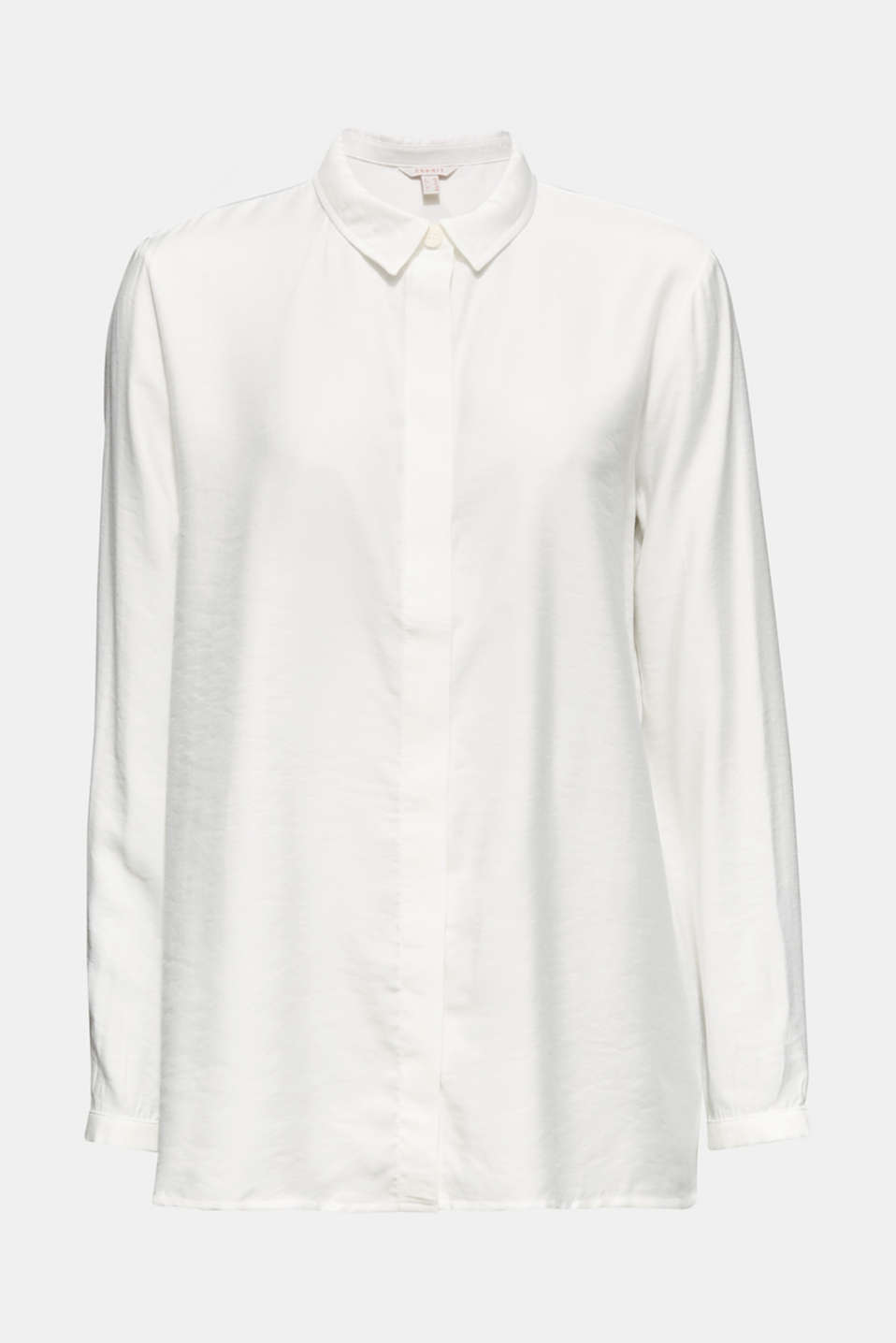 Blouse with a concealed button placket, OFF WHITE, detail image number 8