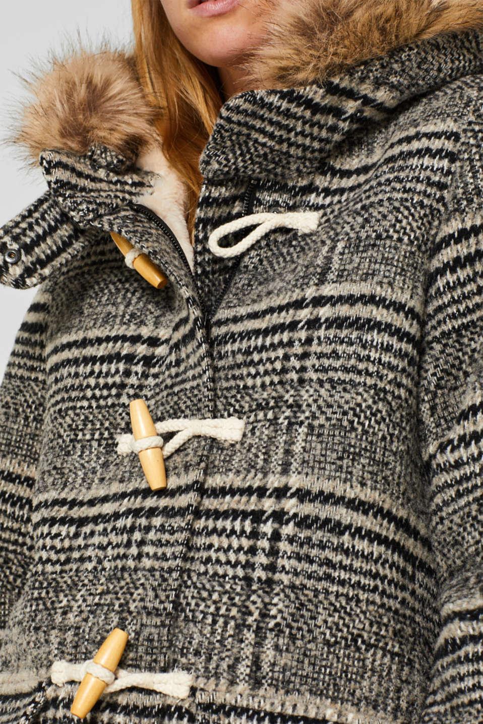Coats woven, DARK GREY, detail image number 2