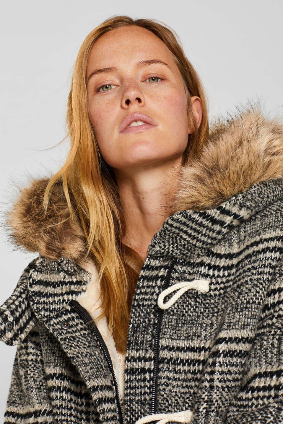 Coats woven, DARK GREY, detail image number 6