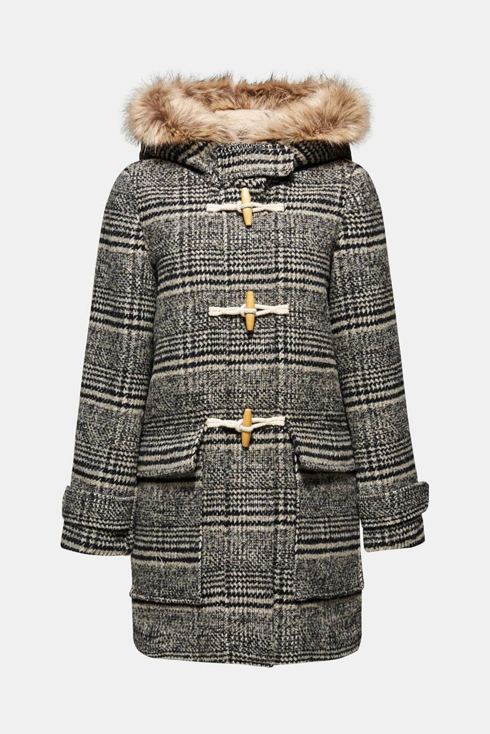 Coats woven, DARK GREY, detail image number 7
