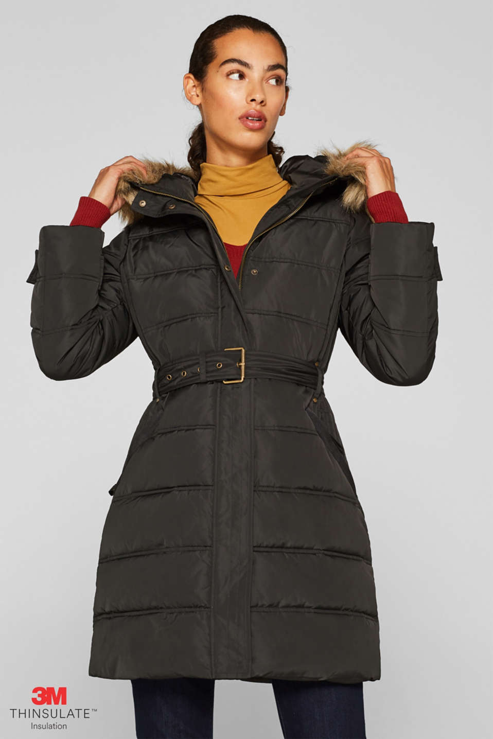 Quilted coat with 3M™ Thinsulate™ filling, DARK TEAL GREEN, detail image number 0