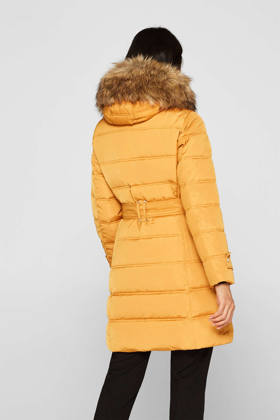 Quilted coat with 3M™ Thinsulate™ filling, AMBER YELLOW, detail image number 3