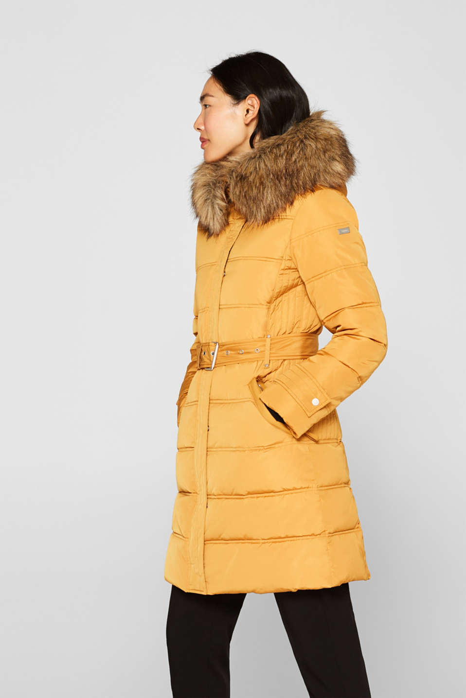 Quilted coat with 3M™ Thinsulate™ filling, AMBER YELLOW, detail image number 5