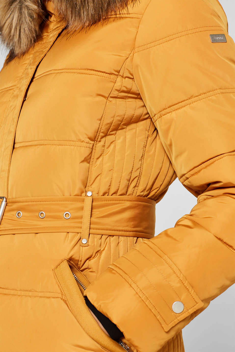 Quilted coat with 3M™ Thinsulate™ filling, AMBER YELLOW, detail image number 2