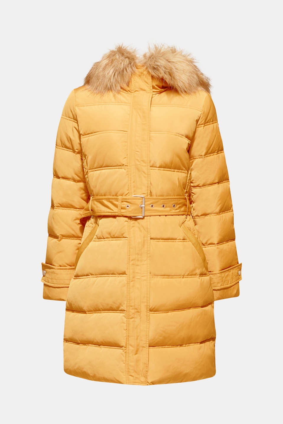 Quilted coat with 3M™ Thinsulate™ filling, AMBER YELLOW, detail image number 9
