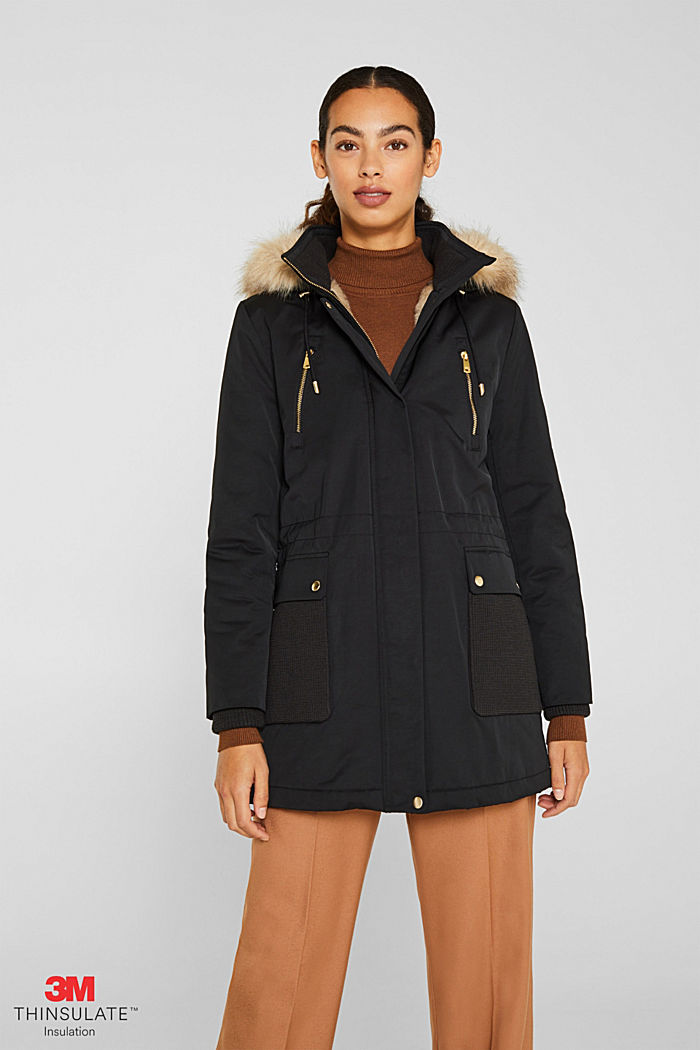 Nylon parka with 3M™ Thinsulate™ padding, BLACK, detail image number 0