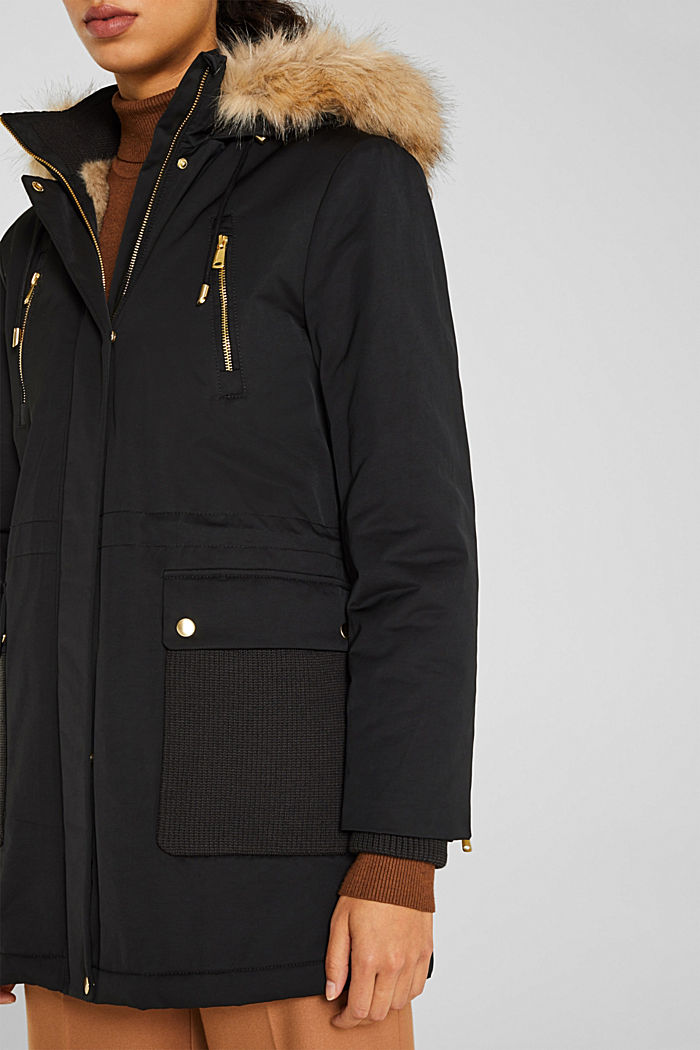 Nylon parka with 3M™ Thinsulate™ padding, BLACK, detail image number 2