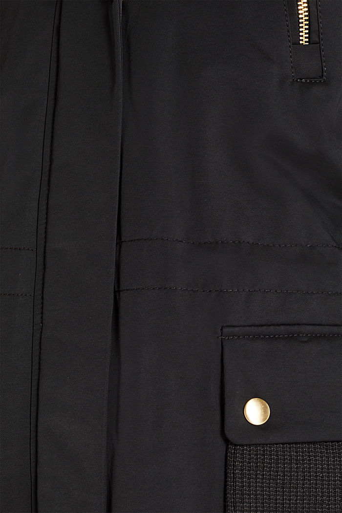 Nylon parka with 3M™ Thinsulate™ padding, BLACK, detail image number 4