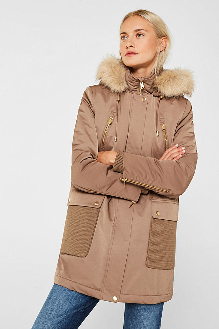 Nylon parka with 3M™ Thinsulate™ padding, BROWN, detail image number 0