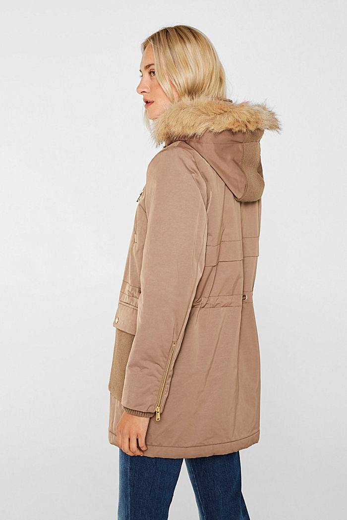 Nylon parka with 3M™ Thinsulate™ padding, BROWN, detail image number 3