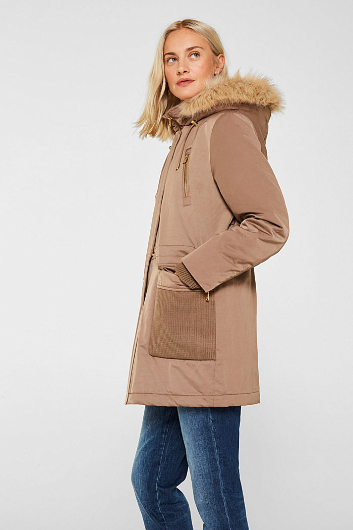 Nylon parka with 3M™ Thinsulate™ padding, BROWN, detail image number 5