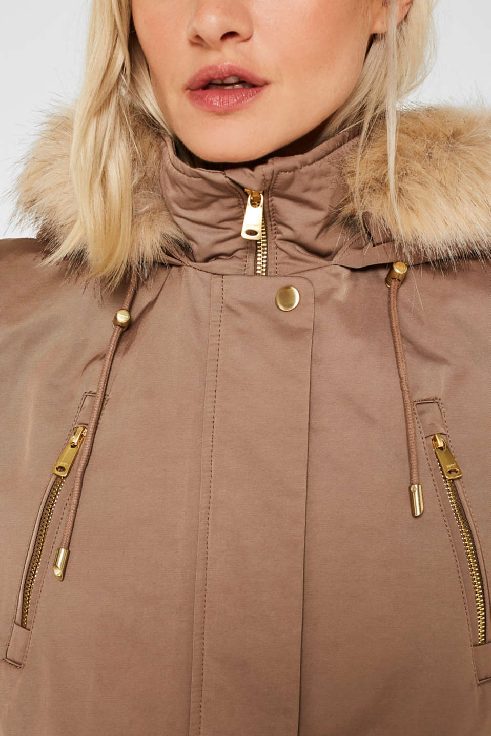 Nylon parka with 3M™ Thinsulate™ padding, BROWN, detail image number 2