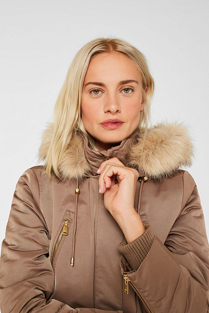 Nylon parka with 3M™ Thinsulate™ padding, BROWN, detail image number 6