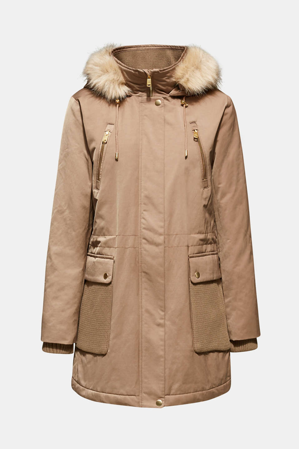 Nylon parka with 3M™ Thinsulate™ padding, BROWN, detail image number 7