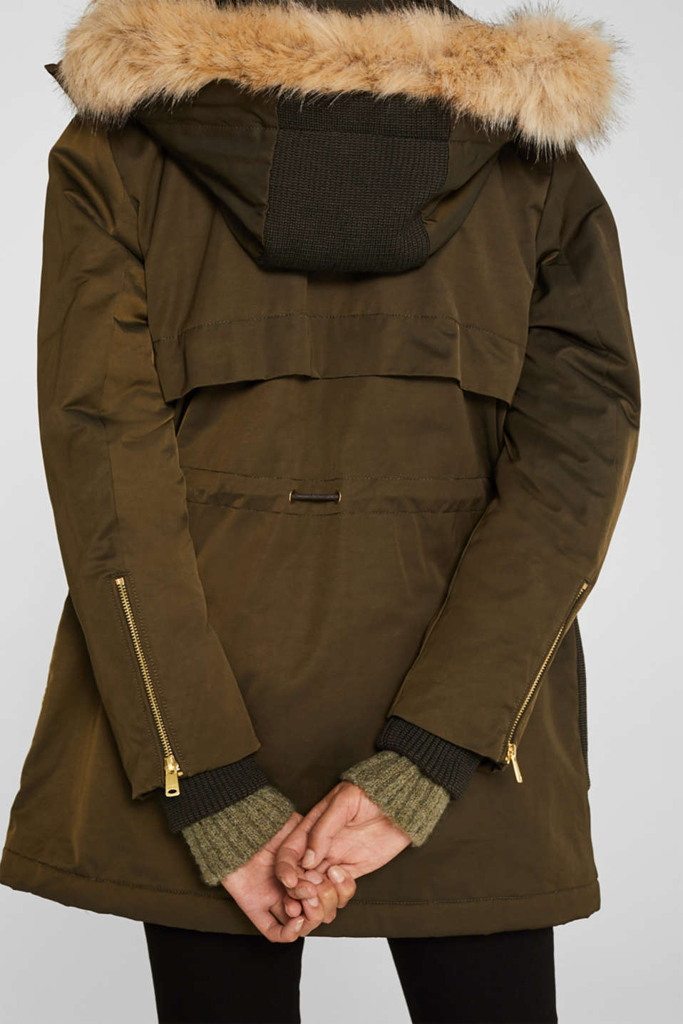 Coats woven, DARK KHAKI, detail image number 2