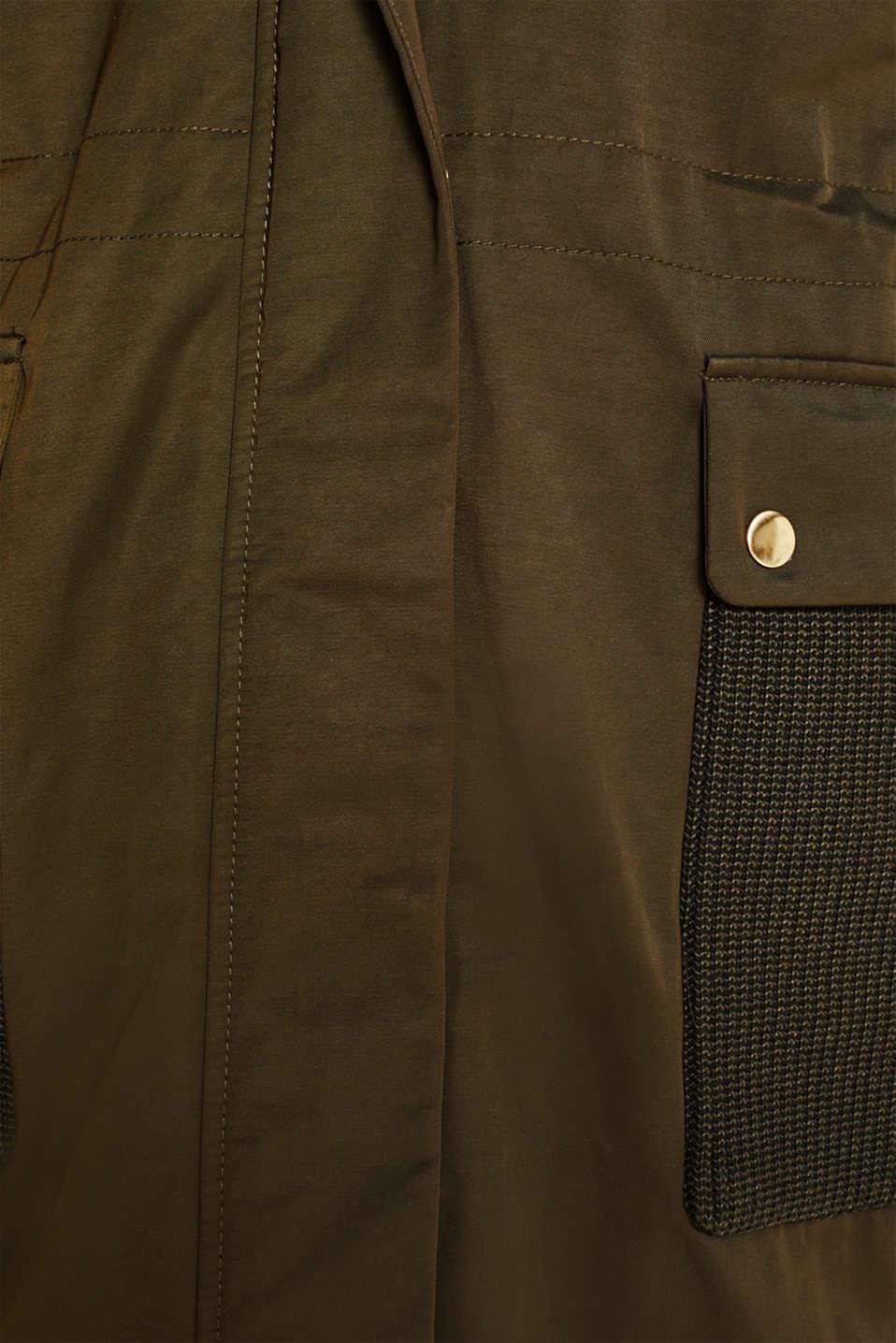 Coats woven, DARK KHAKI, detail image number 4