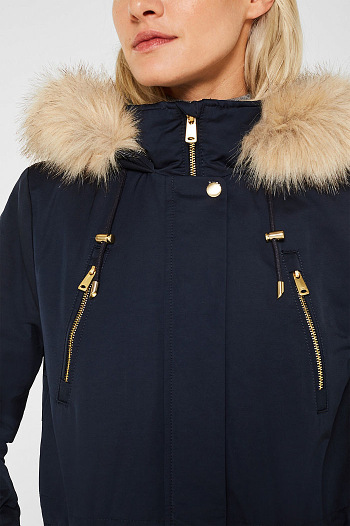 Nylon parka with 3M™ Thinsulate™ padding, NAVY, detail image number 2