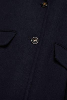 Blazer coat with wool