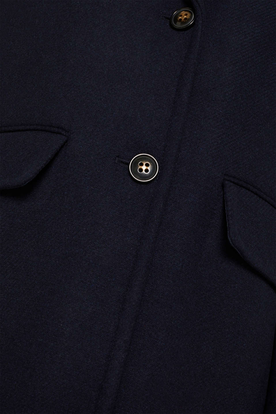 Blazer coat with wool, NAVY, detail image number 4