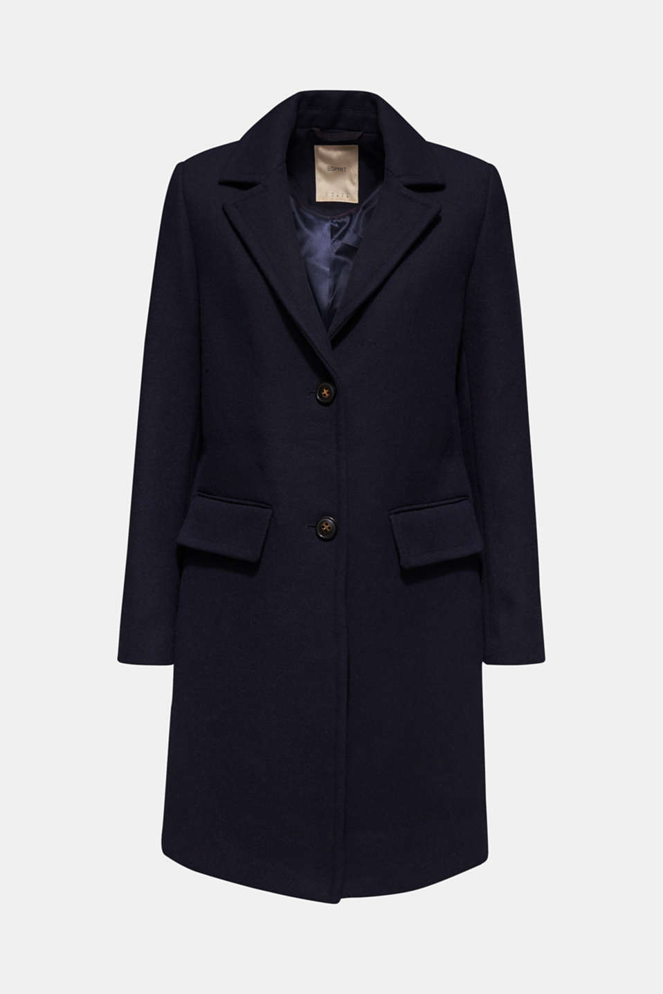 Blazer coat with wool, NAVY, detail image number 8