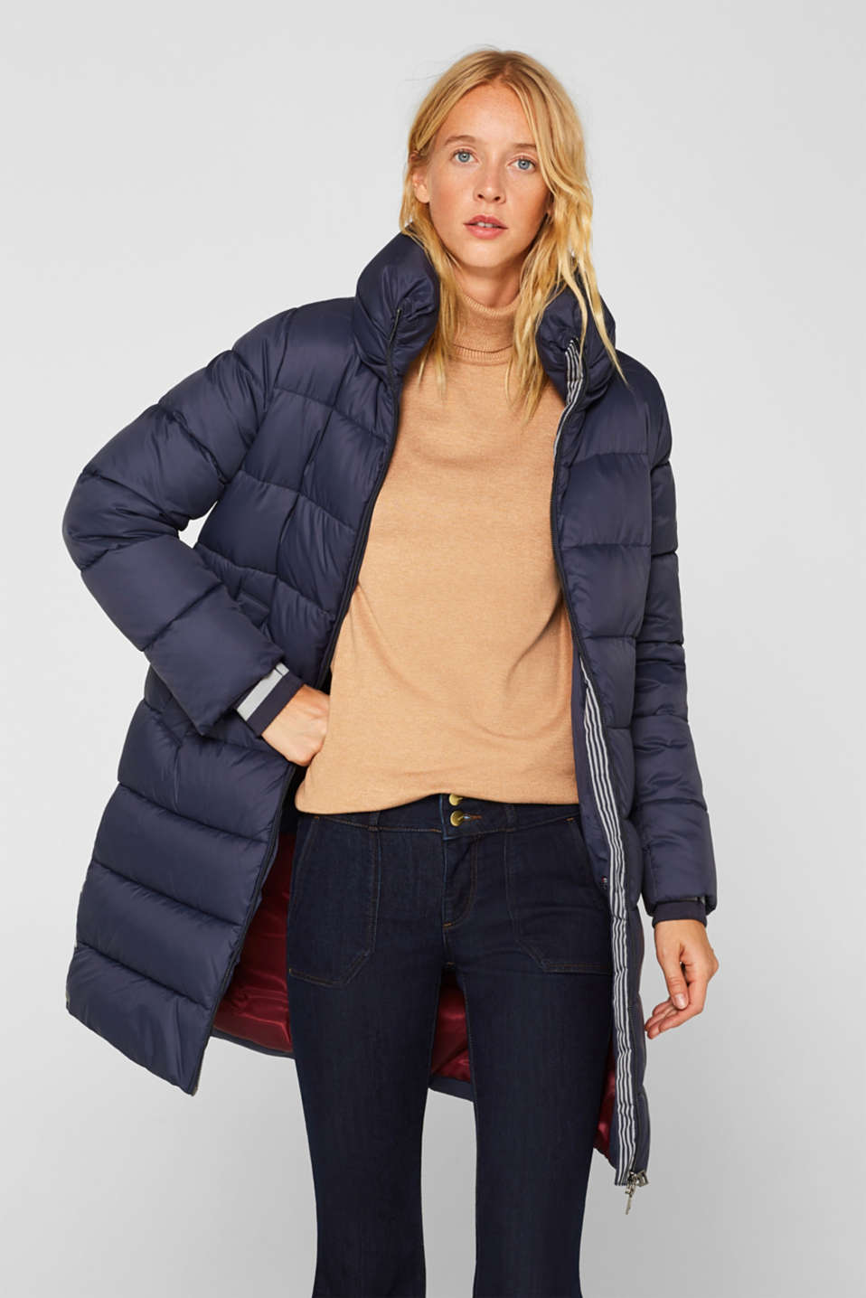 Quilted coat with 3M™ Thinsulate™ padding, NAVY, detail image number 0