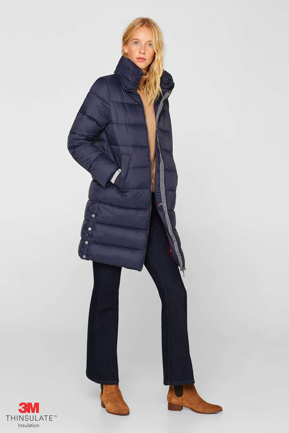 Quilted coat with 3M™ Thinsulate™ padding, NAVY, detail image number 1