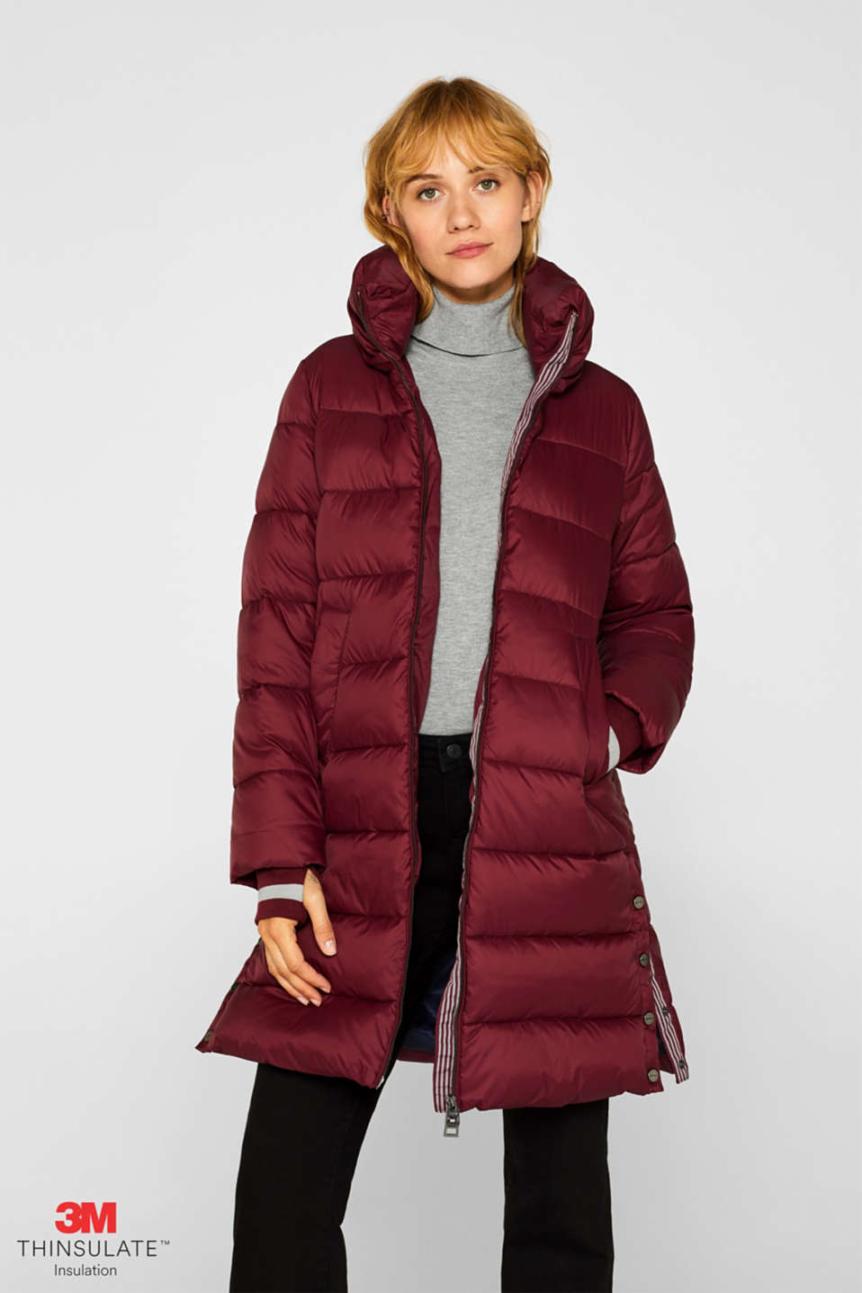 Esprit - Quilted coat with 3M® Thinsulate filling