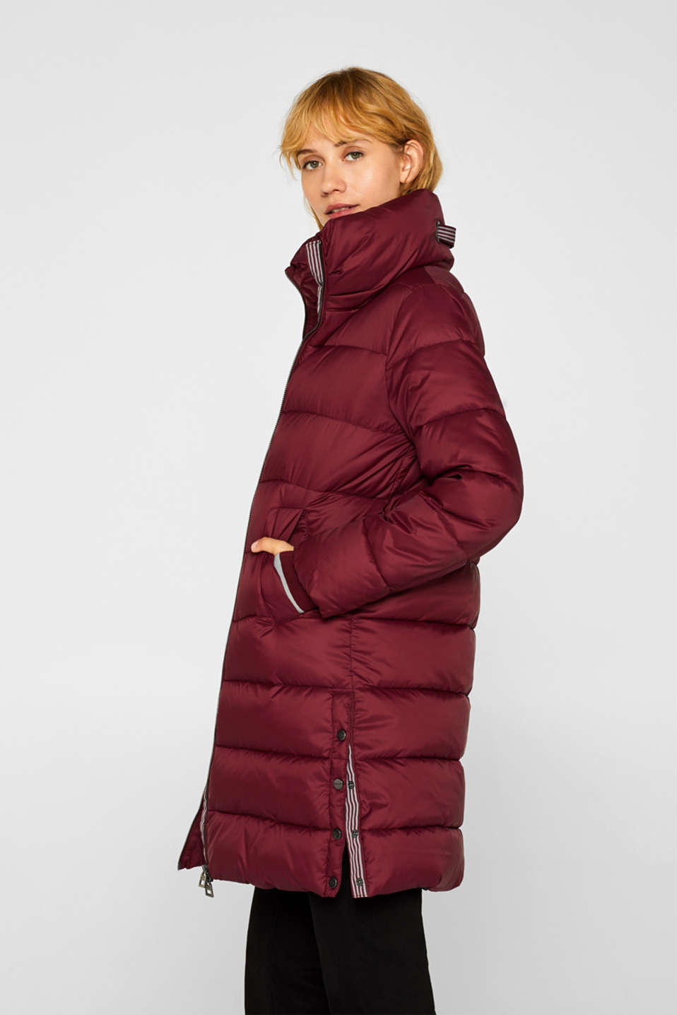 Quilted coat with 3M™ Thinsulate™ padding, BORDEAUX RED, detail image number 5