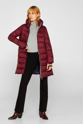 Quilted coat with 3M™ Thinsulate™ padding, BORDEAUX RED, detail